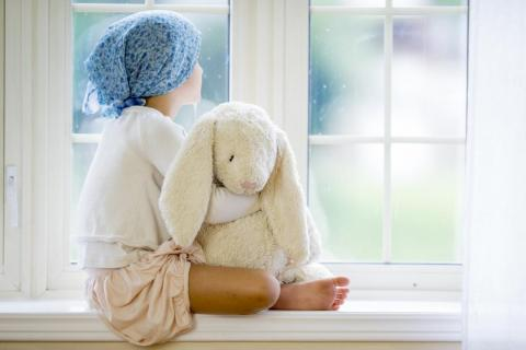 cancer patient with bunny