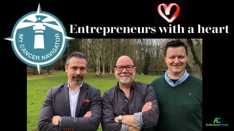 Entrepreneurs with a heart ondersteunen My Cancer Navigator van het Antikankerfonds